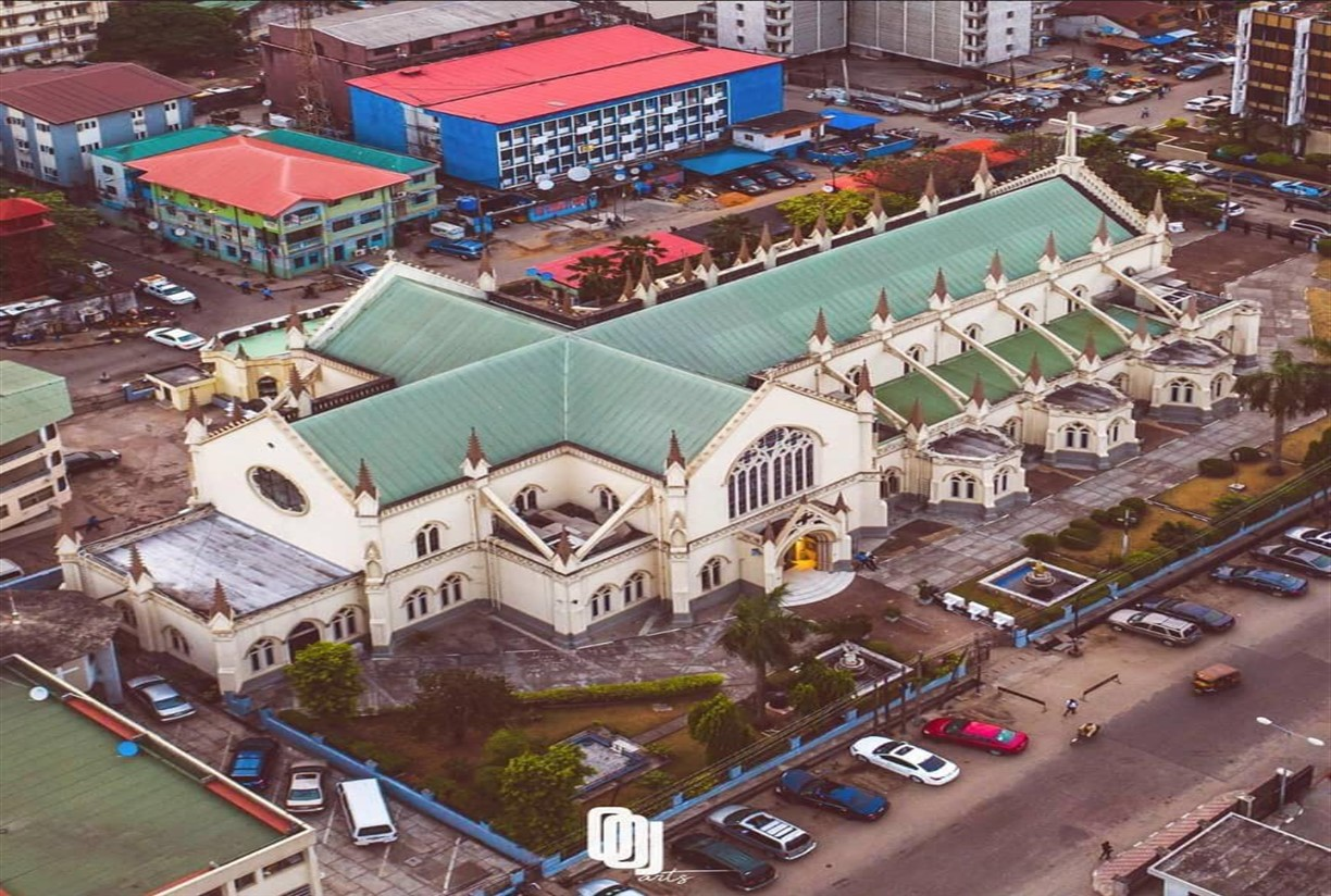 The aerial view of the Cathedral